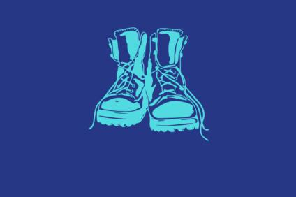 Kuvituskuva, jossa maihari-tyyliset kengät.